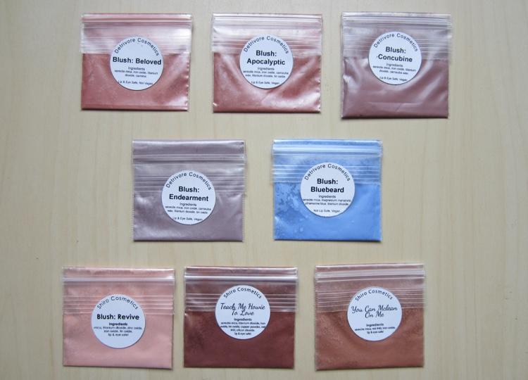 inventory london 2015 loose blush samples