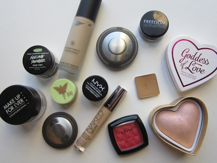 fotd prom night face products