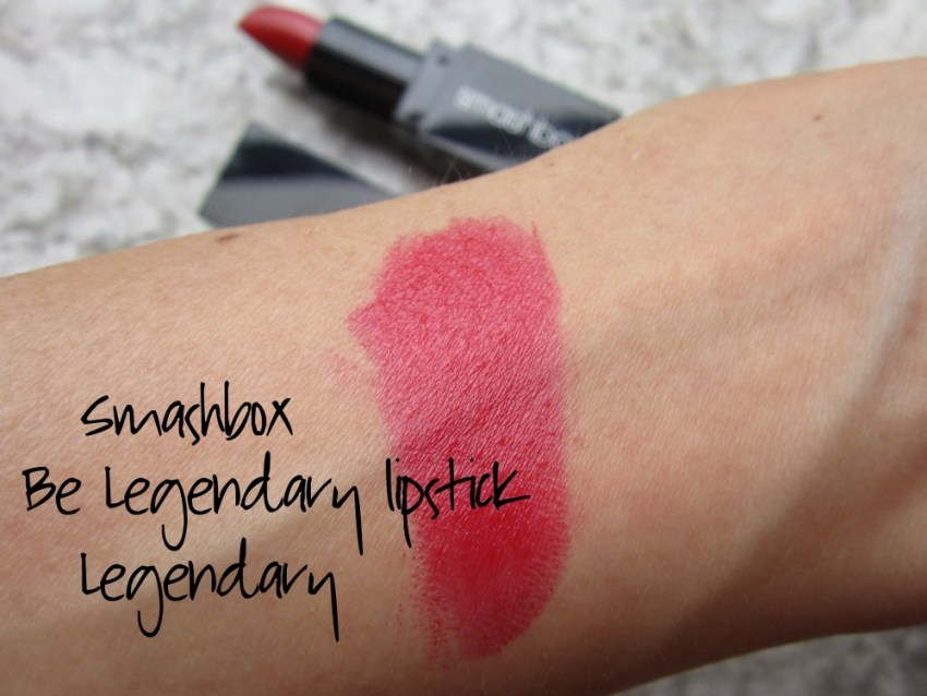 smashbox be legendary lipstick legendary swatch