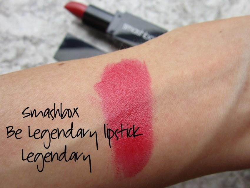 smashbox be legendary lipstick legendary swatch