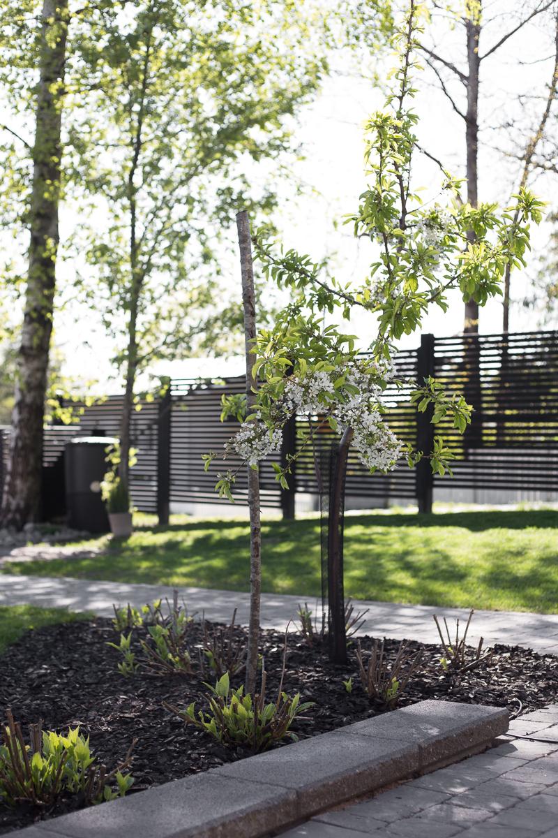 Kekkilä Kotikompostori kokemuksia, musta koristekate, puutarhakierros