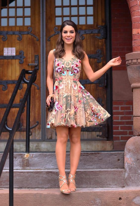Floral dress for day date