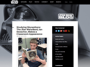 Darth Vader Studying Skywalkers  The Empire Striketh Back Author Ian Doescher Makes a Classroom Appearance   Star Wars Blog