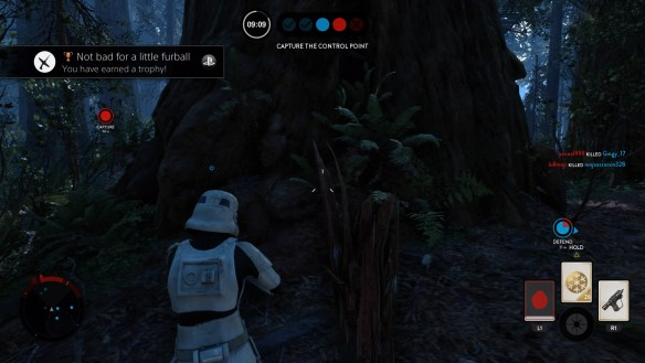 Getting hit with a rock on Endor is indeed a trophy.