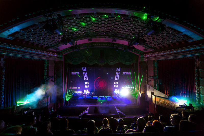 Laser Lightsaber Curtain Show at The El Capitan Theatre — Photo Credit: © Disney 2015