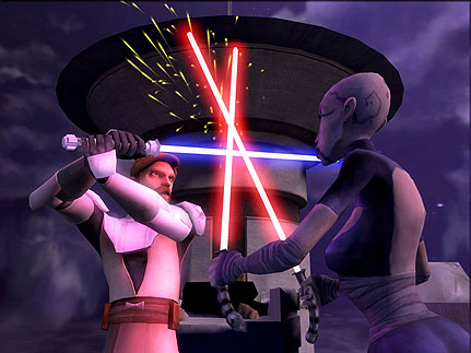 ObiWan and Ventress Clone Wars Theatrical