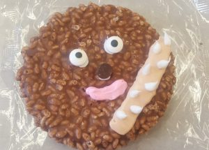 Finished Wookiee Cookie from my Child Care and Development class