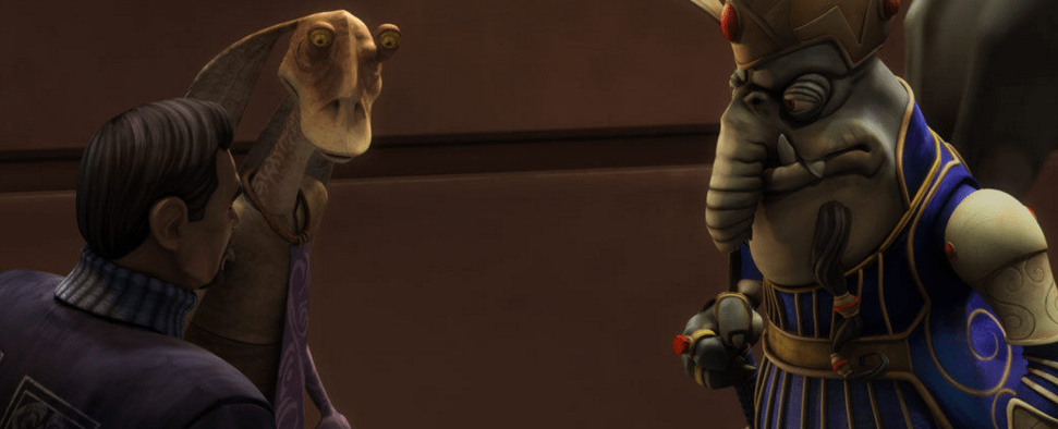 King Katuunko Jar Jar and Bail Organa