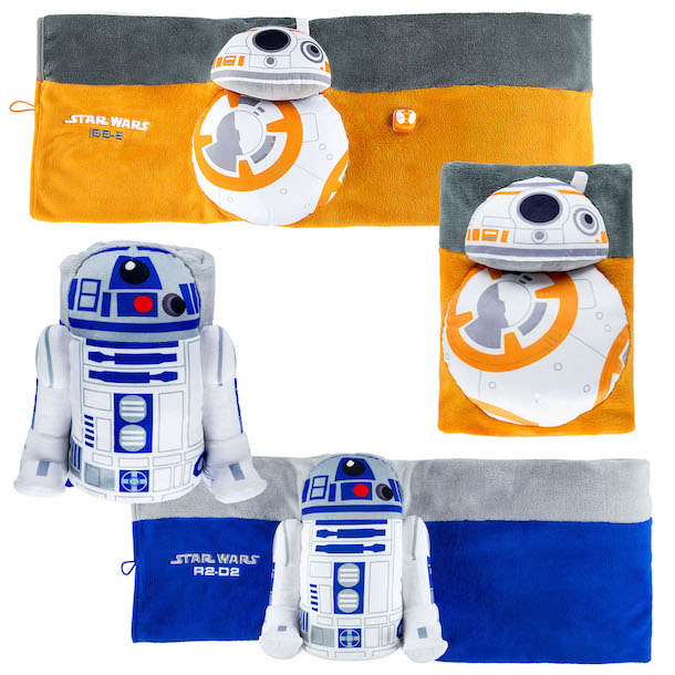 Blankets inspired by BB-8 and R2-D2