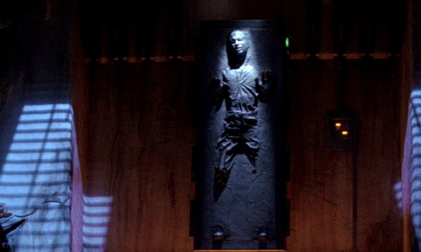 Image result for jabba and han solo in carbonite