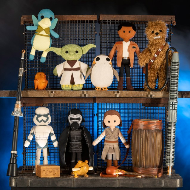 Guests visiting the Toydarian Toymaker stall in Star Wars: Galaxy's Edge at Disneyland Park in Anaheim, California, and at Disney's Hollywood Studios in Lake Buena Vista, Florida, will discover an assortment of artisan-style plush characters, wood and tin toys and musical instruments. (David Roark/Disney Parks)