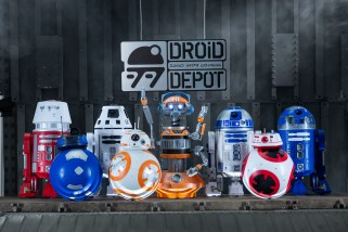 Guests visiting Star Wars: Galaxy's Edge at Disneyland Park in Anaheim, California, and at Disney's Hollywood Studios in Lake Buena Vista, Florida, will be able to stop by the Droid Depot to build their own R-series or BB-series droids that will act as a friend throughout the village of Black Spire Outpost. (David Roark/Disney Parks)