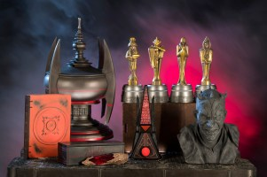 Guests visiting Dok-Ondar's Den of Antiquities in Star Wars: Galaxy's Edge at Disneyland Park in Anaheim, California, and at Disney's Hollywood Studios in Lake Buena Vista, Florida, will discover rare and unique items for sale, including relics left behind by the Sith. (David Roark/Disney Parks)