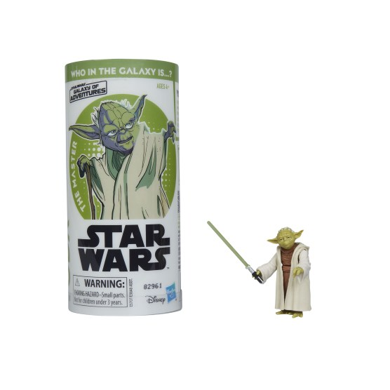 STAR WARS GALAXY OF ADVENTURES YODA Figure and Mini Comic (1)