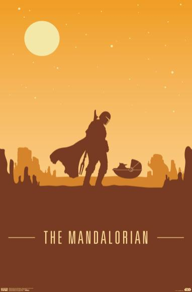 Star Wars: The Mandalorian - Mando and The Child At Dusk Poster From Trends International