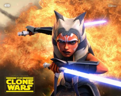 Ahsoka Tano from Star Wars: The Clone Wars 8x10 Official Photo From Topps Ashley Eckstein as Ahsoka Tano from Star Wars: The Clone Wars Season 7 8x10 Official Photo Available 2/24 exclusively at http://www.StarWarsAuthentics.com.