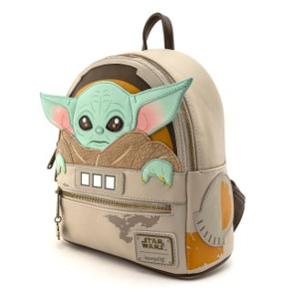 Loungefly Mandalorian The Child Cradle mini backpack Includes printed, debossed, applique, embroidered and enamel zipper charm details. $80.00 Coming soon starting June 2020