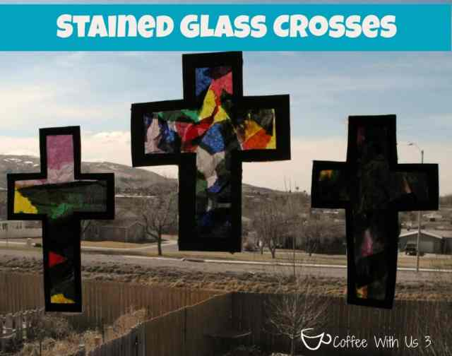 Stained Glass Crosses - Preschool Easter Craft - Coffee With Us 3