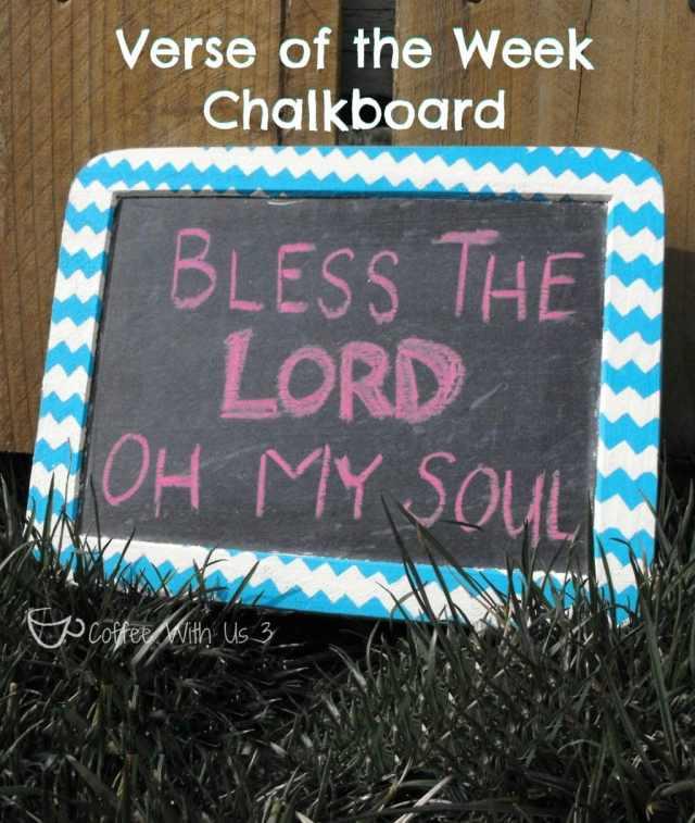 Verse of the Week Chalkboard