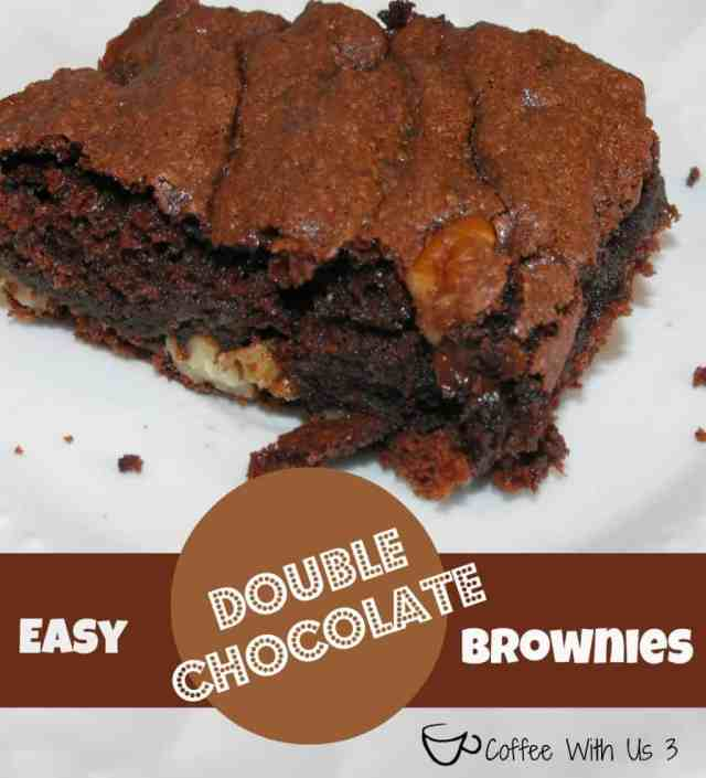 Double Chocolate Brownies so easy my daughter can make them!