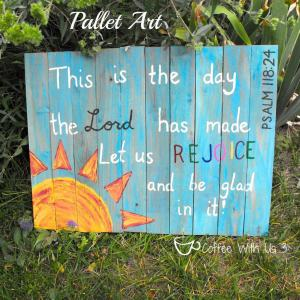 Art created on recycled pallet wood or fence pickets #pallet #Bible
