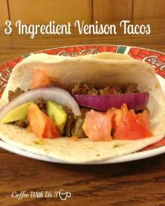 Looking for more venison recipes? Try this easy & delicious crockpot venison taco recipe!!