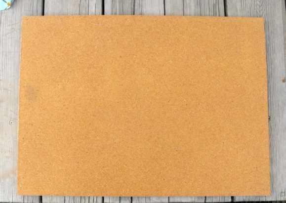 15 Minute Cork Board Makeover