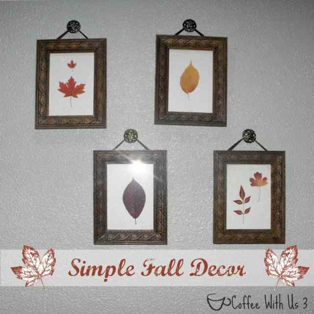 Change your decor for fall in an easy, simple, but beautiful way!