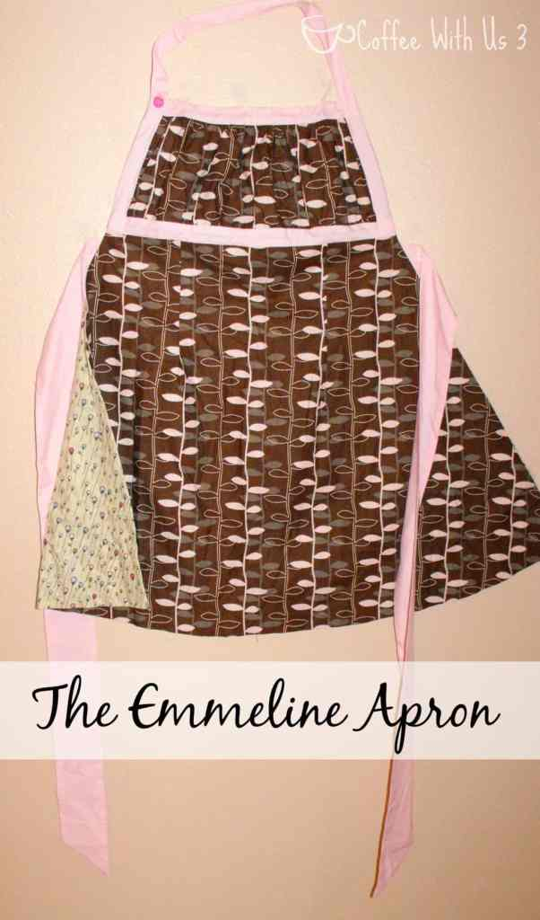 Emmeline Apron in Chocolate and Pink