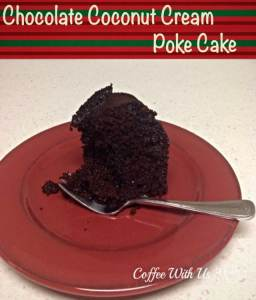 Chocolate Coconut Cream Poke Cake