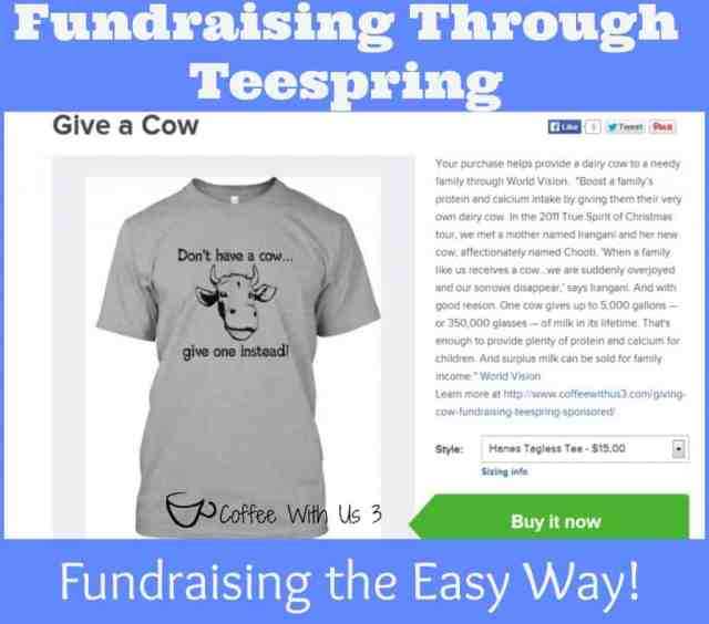 Fundraising Through Teespring / Fundraising the Easy Way!