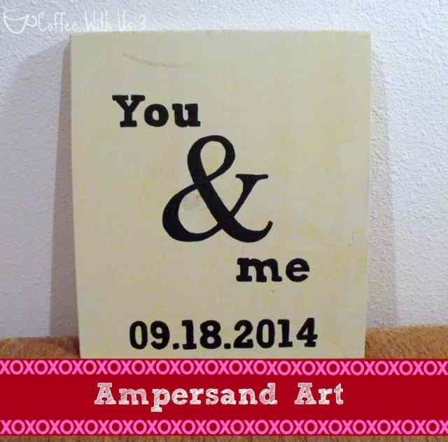 Make this simple Ampersand Art project in about an hour, with free printable! Perfect for an anniversary or Valentine's Day present.
