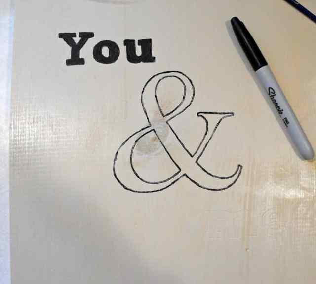Unfinished Ampersand Art