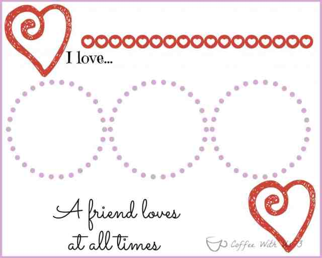 Free Printable Valentine's Placemat