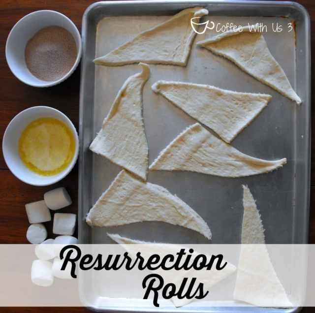 Resurrection Rolls teach that Jesus is alive! www.coffeewithus3.com #easter