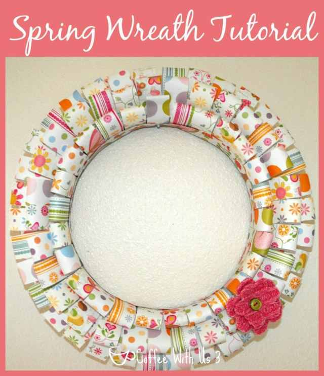 Paper Wreath for Spring from Coffee With Us 3 #wreath #spring
