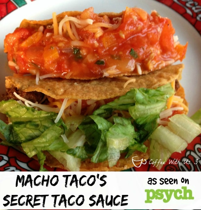 Macho Taco's Secret Ingredient Taco Sauce as seen on Psych - My food farewell to one of my favorite shows! #recipes #tvshows