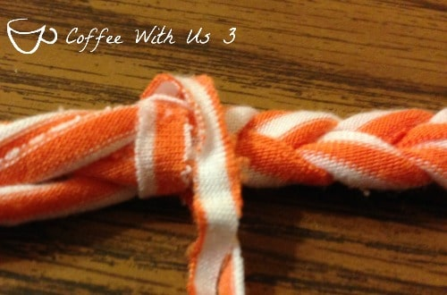 t-shirt headband braided tied