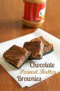 These Chocolate Peanut Butter Brownies are made from scratch, and are amazingly delicious, but quite simple!