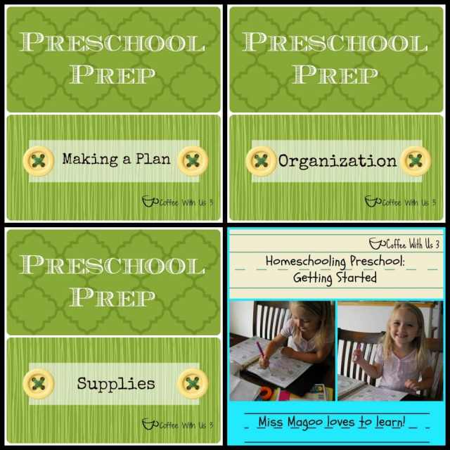 Preschool Prep- Making a plan, organizing, buying supplies and getting started! #preschool