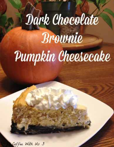 Dark Chocolate Brownie Pumpkin Cheesecake