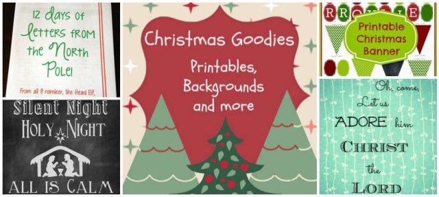 Free holiday printables and Facebook covers for Thanksgiving, Christmas, and the winter months!