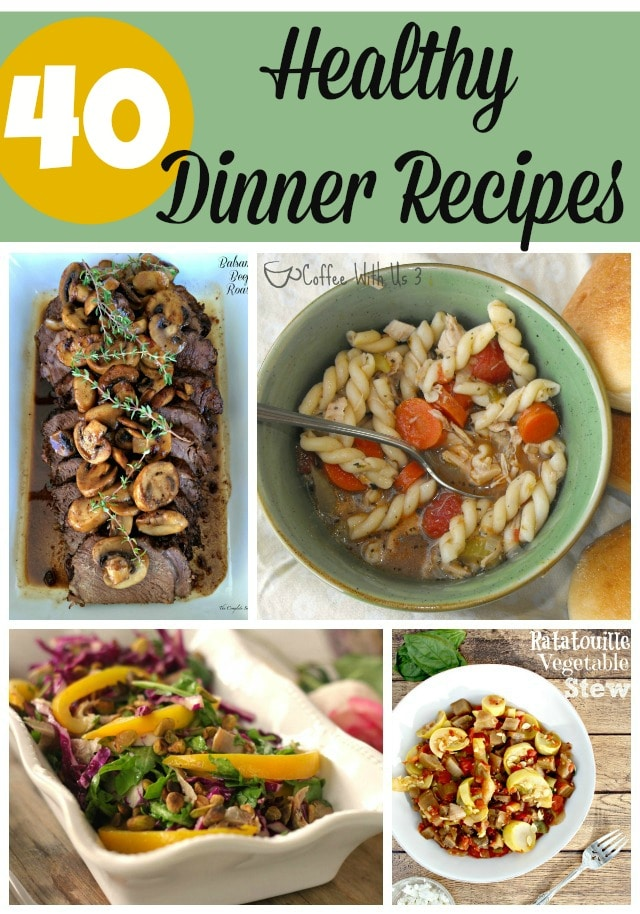 40 Healthy Dinner Recipes | Looking for family friendly recipes that are full of vegetables, lean meat, and healthy ingredients?  These recipes are sure to please even the pickiest eater but most increase your waistline. Save this pin and add these recipes to your meal plan soon!