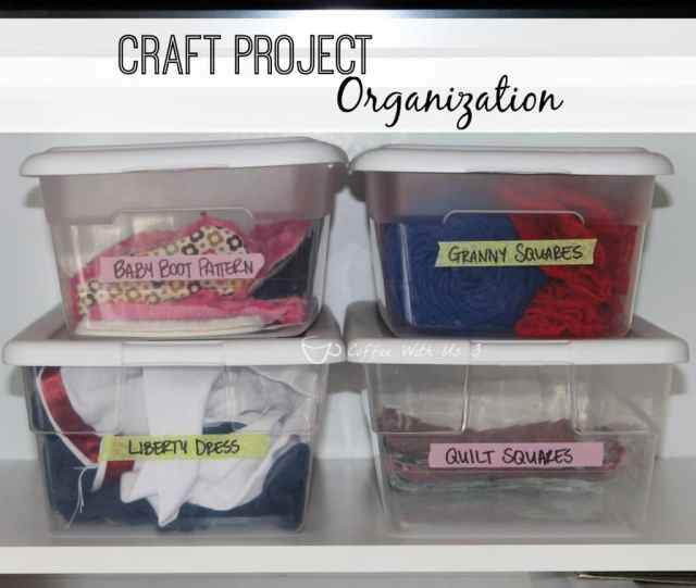 Craft Project Organization- Find out how to easily keep track of all your craft projects!
