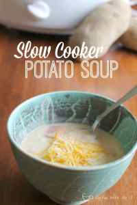 This Slow Cooker Potato Soup is quick to throw together, and then it makes itself!