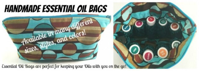Handmade Essential Oils Bags are perfect for taking your oils with you!