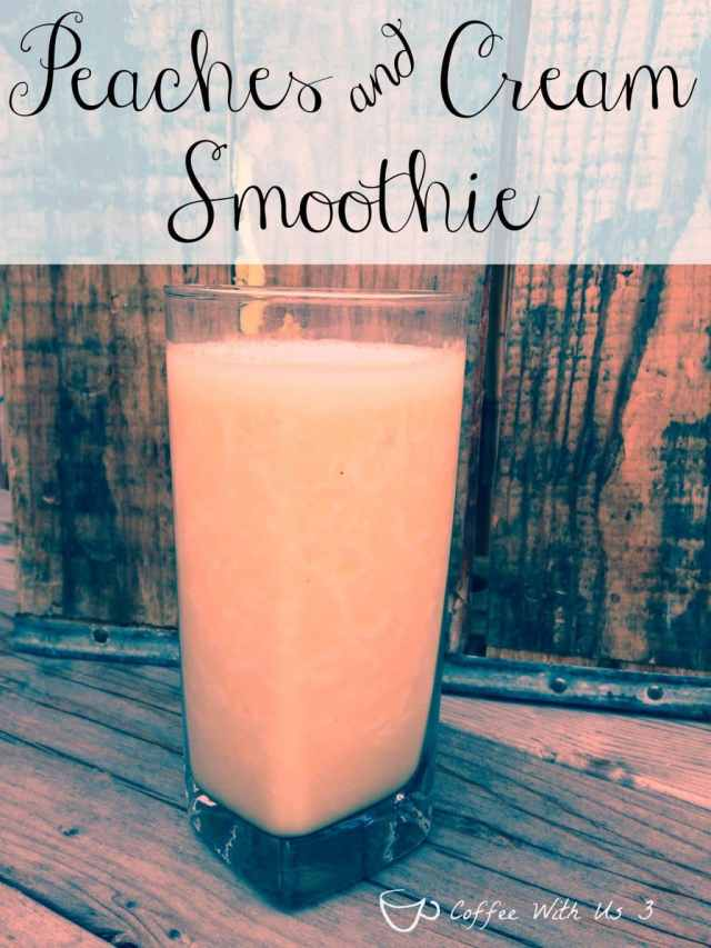 Peaches and Cream Smoothie - Delicious taste of summer in a creamy smoothie that's almost as good as a milk shake!