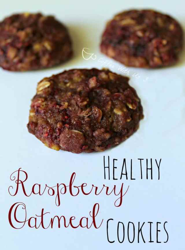 Healthy Raspberry Oatmeal Cookies