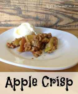 Apple Crisp - Yummy apples topped with a brown sugar and oatmeal topping for a delicious and easy dessert!