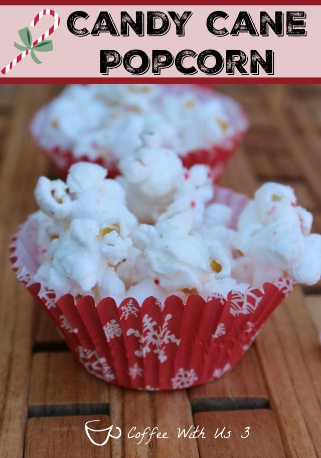 Candy Cane Popcorn is an easy and delicious treat for any Christmas party, get together, or just a snack while watching Christmas movies.
